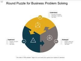 Round Puzzle For Business Problem Solving