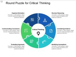 Round Puzzle For Critical Thinking