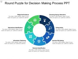 Round Puzzle For Decision Making Process Ppt