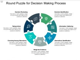 Round Puzzle For Decision Making Process