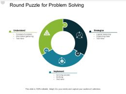 Round Puzzle For Problem Solving