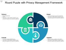 Round Puzzle With Privacy Management Framework
