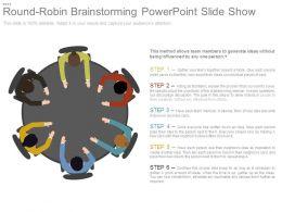 Round Robin Brainstorming Powerpoint Slide Show