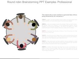 Round Robin Brainstorming Ppt Examples Professional
