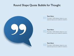 Round Shape Quote Bubble For Thought