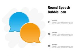 Round Speech Bubble Icon