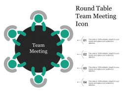 Round Table Team Meeting Icon