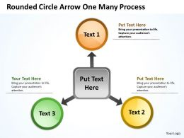 Rounded Circle Arrow One Many Process 15