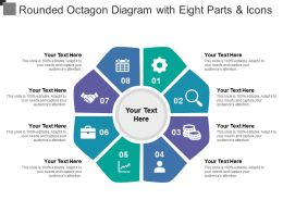 Rounded Octagon Diagram With Eight Parts And Icons