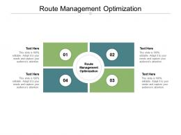 Route Management Optimization Ppt Powerpoint Presentation Summary Cpb
