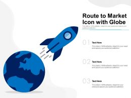 Route To Market Icon With Globe