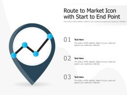Route To Market Icon With Start To End Point