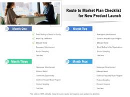 Route To Market Plan Checklist For New Product Launch