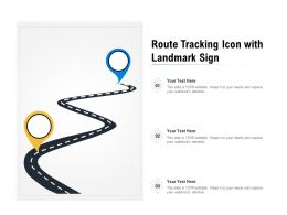 Route Tracking Icon With Landmark Sign