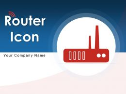 Router Icon Computer Technology Strength Security Arrow Network