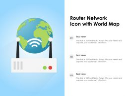 Router Network Icon With World Map