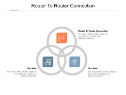 Router To Router Connection Ppt Powerpoint Presentation Styles Skills Cpb