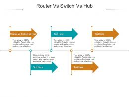 Router Vs Switch Vs Hub Ppt Powerpoint Presentation Outline Show Cpb