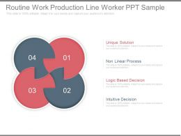 Routine Work Production Line Worker Ppt Sample
