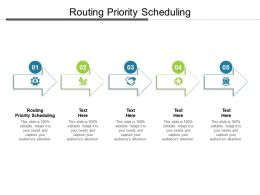 Routing Priority Scheduling Ppt Powerpoint Presentation Inspiration Samples Cpb