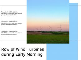 Row Of Wind Turbines During Early Morning