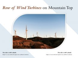 Row Of Wind Turbines On Mountain Top