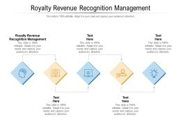 Royalty Revenue Recognition Management Ppt Presentation Ideas Outfit Cpb