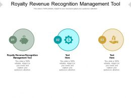 Royalty Revenue Recognition Management Tool Ppt Powerpoint Presentation Show Structure Cpb