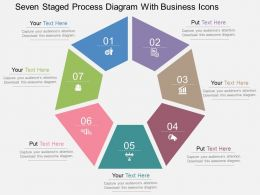 Rp Seven Staged Process Diagram With Business Icons Flat Powerpoint Design