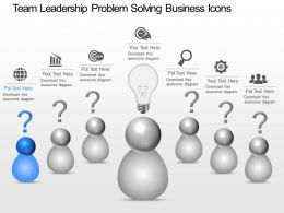 Rp Team Leadership Problem Solving Business Icons Powerpoint Template