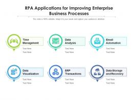RPA Applications For Improving Enterprise Business Processes
