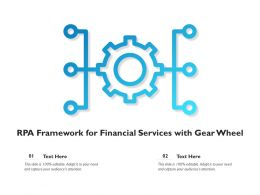 RPA Framework For Financial Services With Gear Wheel