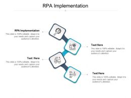 RPA Implementation Ppt Powerpoint Presentation Icon Topics Cpb