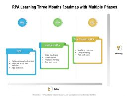 RPA Learning Three Months Roadmap With Multiple Phases