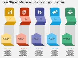 rq Five Staged Marketing Planning Tags Diagram Flat Powerpoint Design
