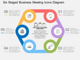 Rq Six Staged Business Meeting Icons Diagram Flat Powerpoint Design