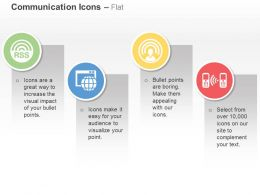Rss Browser With Globe Wireless Phone Ppt Icons Graphics
