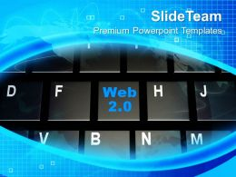 Rss Web On Keyboard Internet Powerpoint Templates Ppt Themes And Graphics 0113