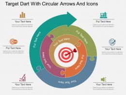 ru_target_dart_with_circular_arrows_and_icons_flat_powerpoint_design_Slide01