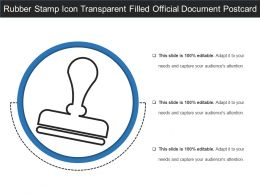 Rubber Stamp Icon Transparent Filled Official Document Postcard