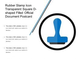 Rubber Stamp Icon Transparent Square D Shaped Filled Official Document Postcard