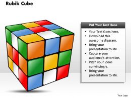 Rubik Cube Powerpoint Template Slide