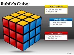 Rubiks Cubes Powerpoint Presentation Slides DB