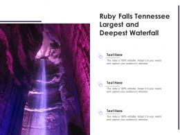 Ruby Falls Tennessee Largest And Deepest Waterfall
