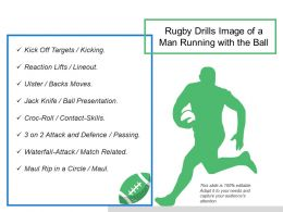 Rugby Drills Image Of A Man Running With The Ball