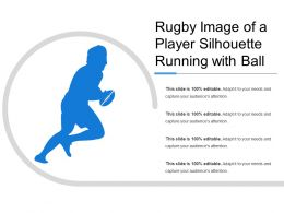 Rugby Image Of A Player Silhouette Running With Ball