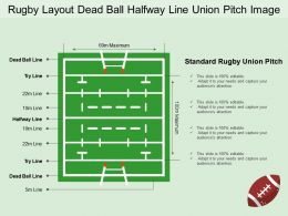 Rugby Layout Dead Ball Halfway Line Union Pitch Image
