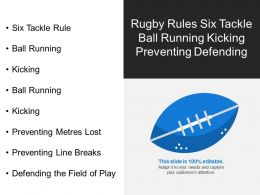 Rugby Rules Six Tackle Ball Running Kicking Preventing Defending