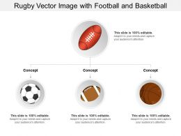 Rugby Vector Image With Football And Basketball