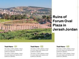 Ruins Of Forum Oval Plaza In Jerash Jordan